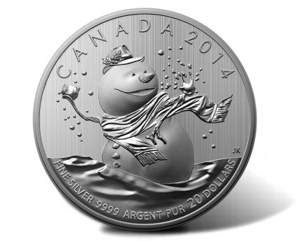 2014 $20 for $20 Snowman Silver Coin