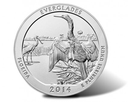 2014-P Everglades National Park 5 Ounce Silver Uncirculated Coin