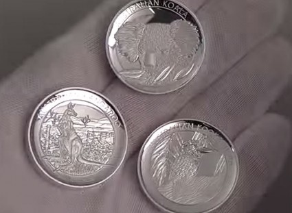 Coins of the 2014 Australian High Relief Silver Proof Three-Coin Collection
