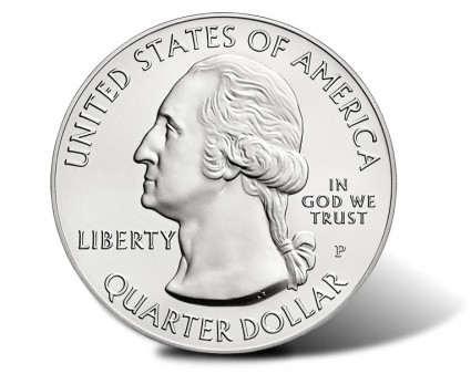 Obverse of America the Beautiful Five Ounce Silver Uncirculated Coins