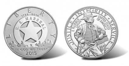 2015 US Marshals Service 225th Anniversary Silver Dollar