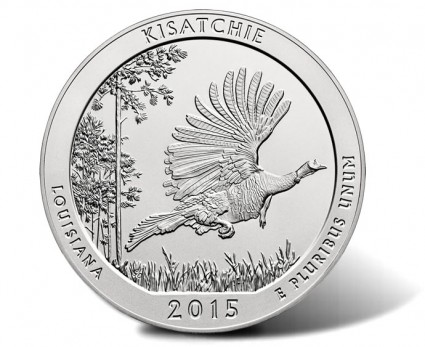 2015 Kisatchie National Forest 5 Oz. Silver Coin