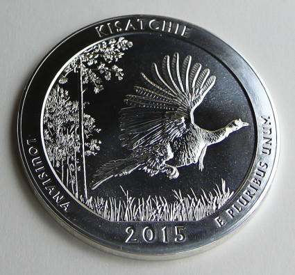 2015 Kisatchie National Forest Five Ounce Silver Bullion Coin