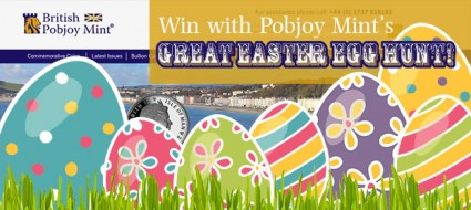 Pobjoy Mint Great Easter Egg Hunt competition