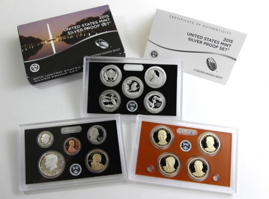 Packaging and Lenses of the 2015 Silver Proof Set