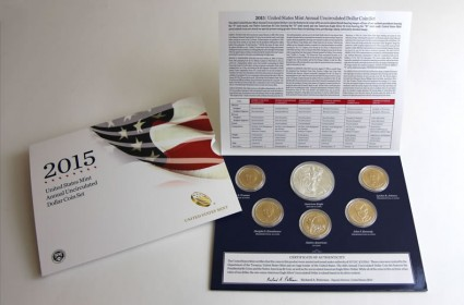 2015 US Mint Annual Uncirculated Dollar Coin Set
