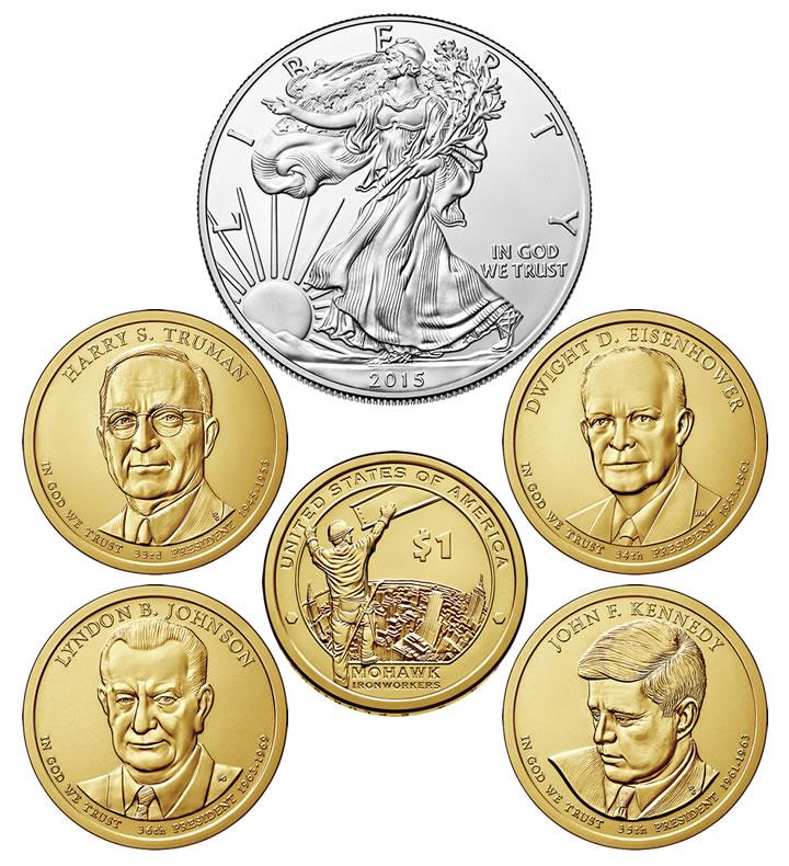 Truman dollar $1 coins Denver BU UNC 2015 United States US Presidents Harry S