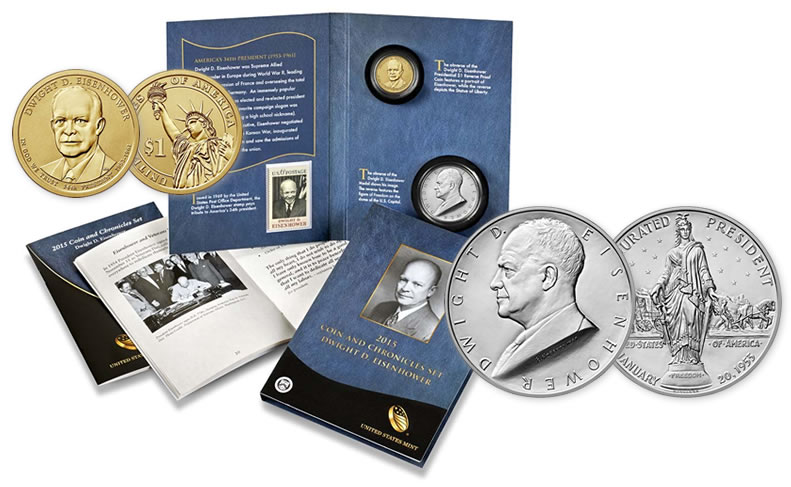 2015 Dwight D Eisenhower Coin And Chronicles Set