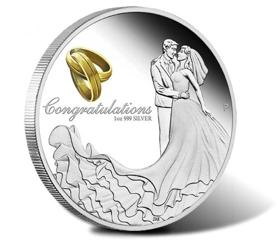 2016 $1 Wedding Silver Proof Coin