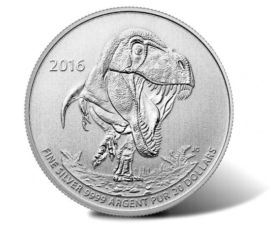 2016 $20 Tyrannosaurus Rex Silver Coin