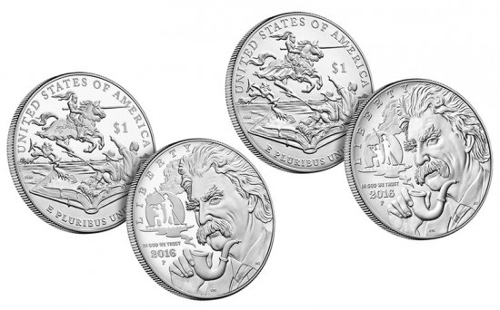 2016 Proof and Uncirculated Mark Twain Commemorative Silver Dollars