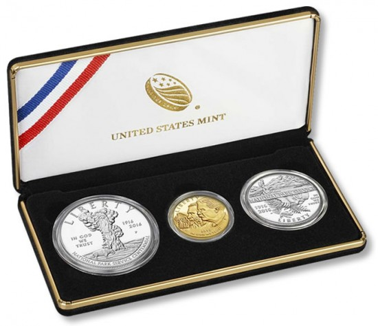 2016 National Park Service 100th Anniversary Three-Coin Proof Set