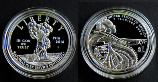 100th Anniversary of the National Park Service 2016 Proof Silver Dollar