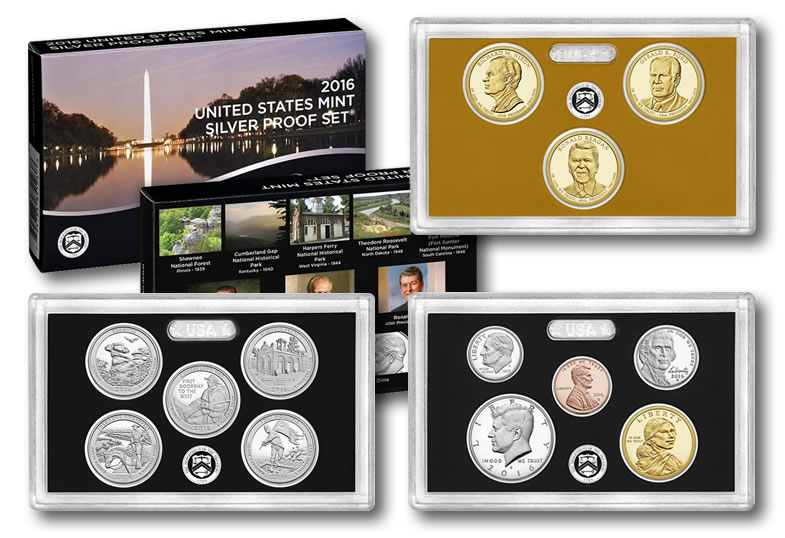 2016-P FIVE COIN SET QUARTERS SHAWNEE CUMBERLAND GAP HARPERS THEODORE MOULTRIE