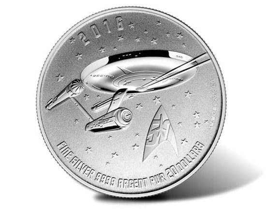 2016 $20 for $20 Star Trek Silver Coin
