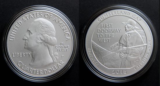 2016-P Cumberland Gap National Historical Park Five Ounce Silver Uncirculated Coin