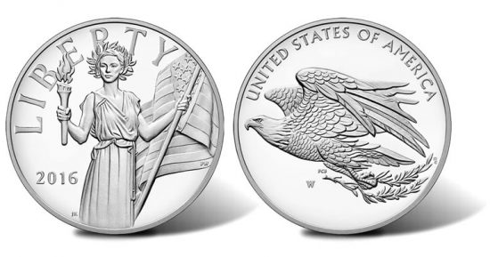 2016 American Liberty Silver Medal Obverse and Reverse