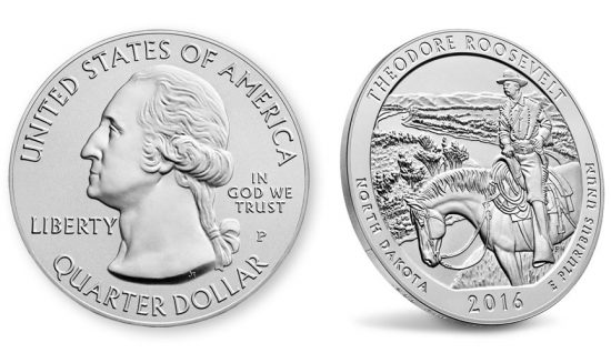 2016-P Theodore Roosevelt National Park Five Ounce Silver Uncirculated Coin