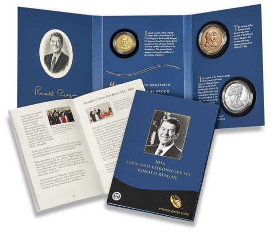 2016 Ronald Reagan Coin and Chronicles Set