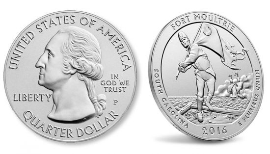 2016-P Fort Moultrie Five Ounce Silver Uncirculated Coin