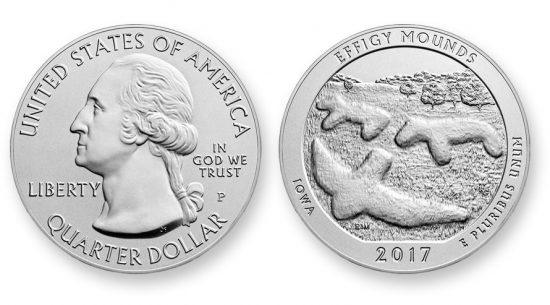 2017-P Effigy Mounds Mounds Five Ounce Silver Uncirculated Coin