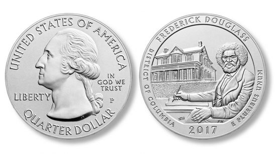 2017-P Frederick Douglass Five Ounce Silver Uncirculated Coin