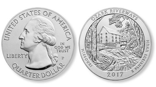 2017-P Ozark Riverways 5 Ounce Silver Uncirculated Coin