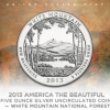 2013-P White Mountain National Forest 5 Ounce Silver Uncirculated Coin
