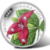 2014 $20 Red Trillium Silver Coin Features Swarovski Crystals for Dew Drops