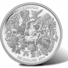 Canadian 2014 $200 Towering Forests Silver Coin for Face Value