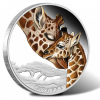 2014 Giraffe  Silver Coin Third in Mother's Love Series