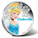 Disney's Cinderella Depicted on 1 Oz Silver Coin