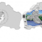 2015 Australian Map Shaped Wedge Tailed Eagle Silver Coin Released