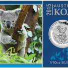 2015 Koala Silver Coin in High Relief and 1/10 Oz Size