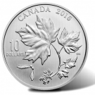 2016 $10 Silver Maple Leaves Coin in 1/2 Oz Size