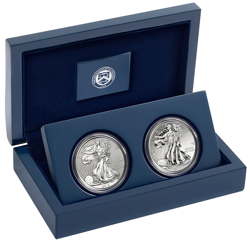 2017 American Silver Eagle West Point Two Coin Set